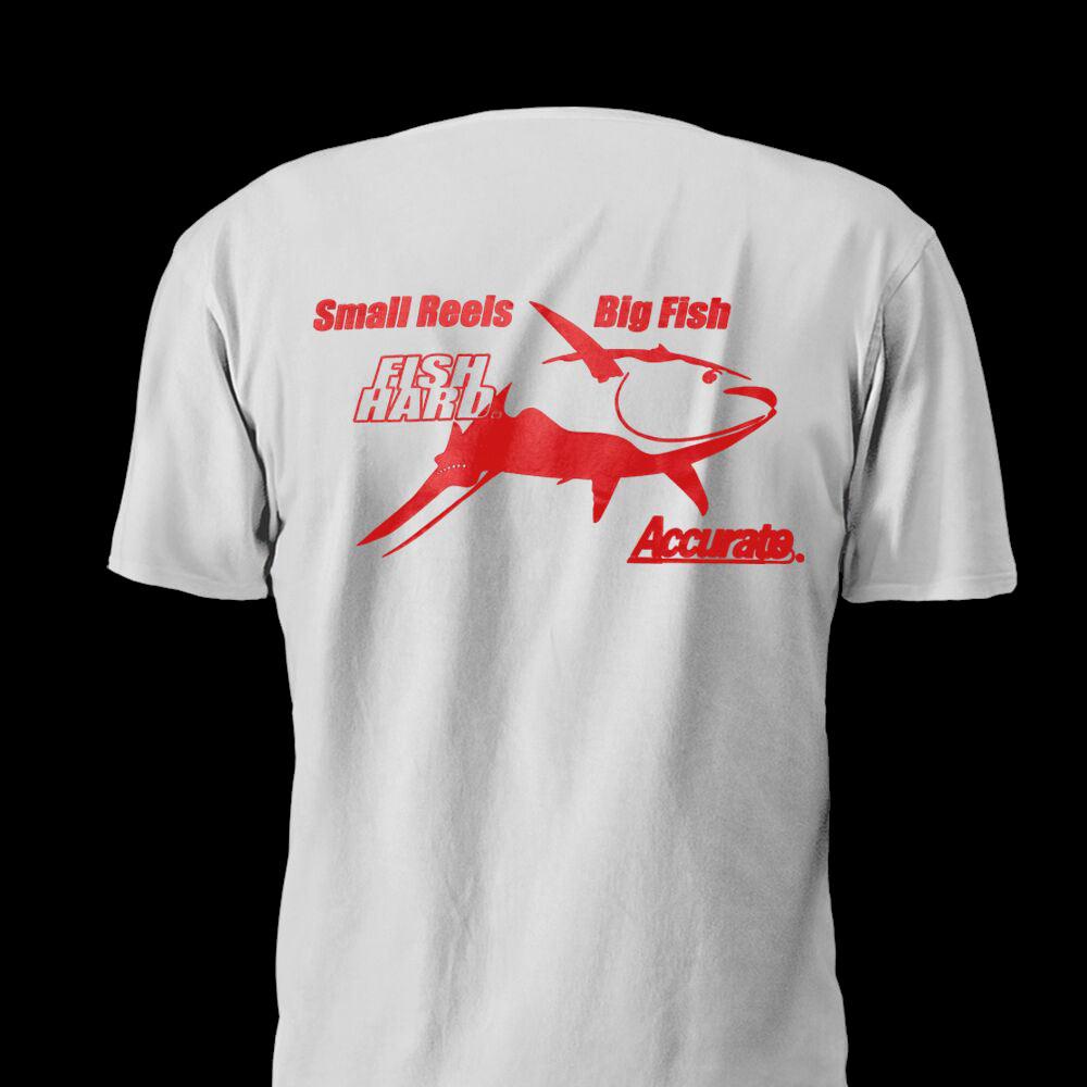 85513dd1eef Accurate Big Tuna T-Shirt – White – Accurate Fishing Reels